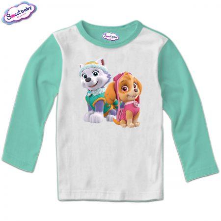 Детска блуза Скай и Еверест мента
