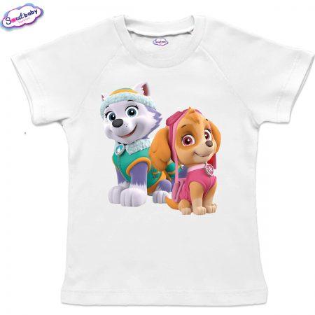 Детска тениска Скай и Еверест бяло