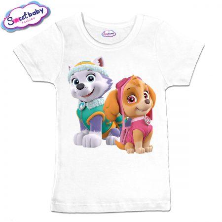 Детска тениска Скай и Еверест в бяло