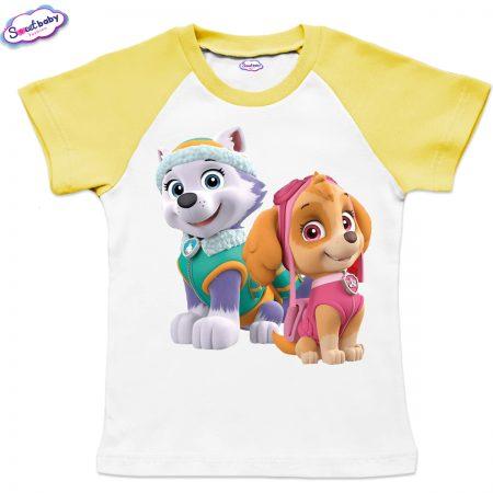 Детска тениска Скай и Еверест жълто
