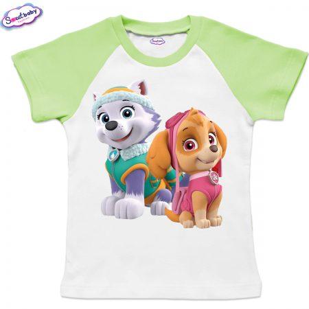 Детска тениска Скай и Еверест зелено