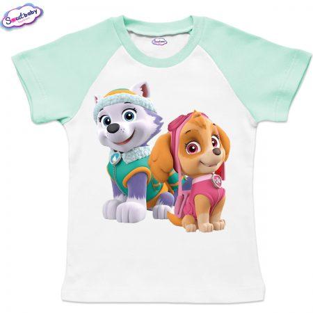 Детска тениска Скай и Еверест мента