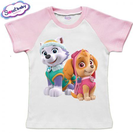 Детска тениска Скай и Еверест розово