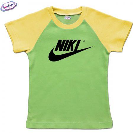 Детска тениска NIKI зелено жълто