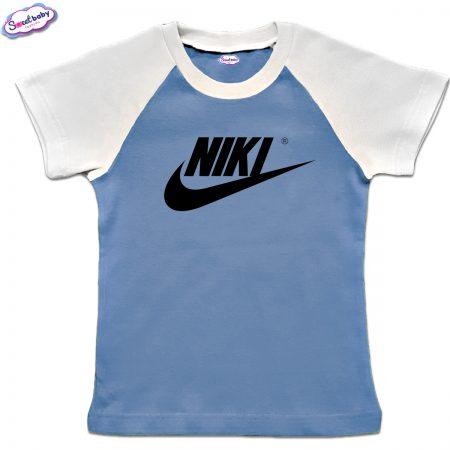 Детска тениска NIKI синьо бяло