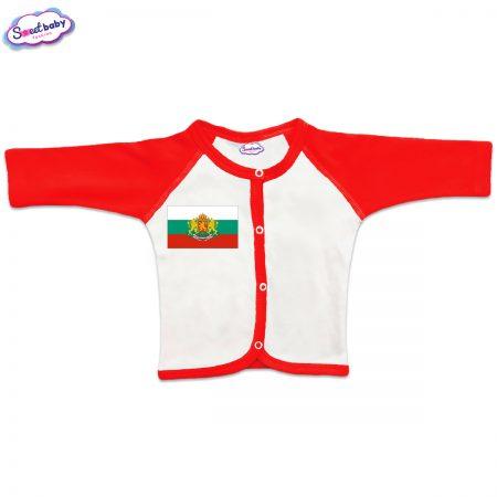 Бебешка жилетка Българско знаме червено бяло