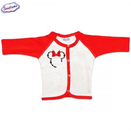 Бебешка жилетка Маус панделка червено бяло