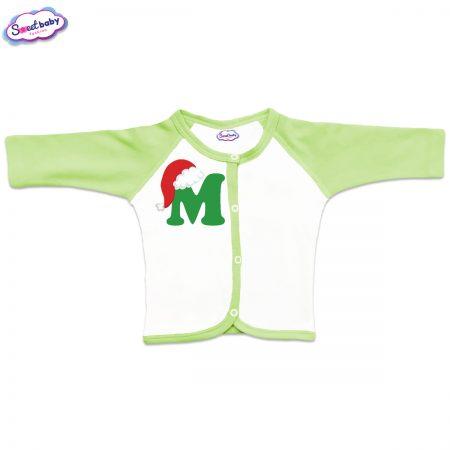 Бебешка жилетка М шапка в зелено