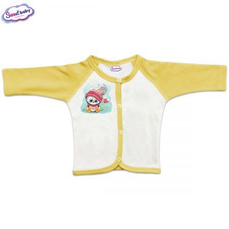 Бебешка жилетка в жълто Сладко пингвинче