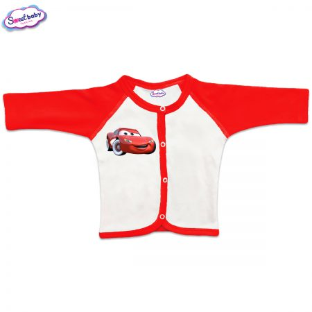 Бебешка жилетка McCueen червено бяло