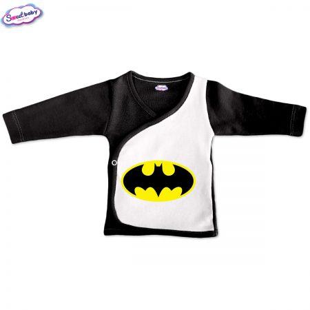 Бебешка камизолка Батман черно и бяло