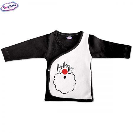 Бебешка камизолка Хохохо черно и бяло