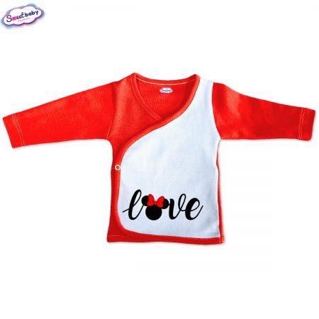 Бебешка камизолка Loove червено и бяло