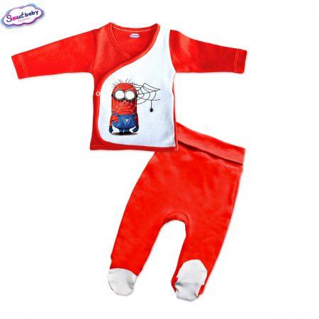 Бебешки сет камизолка ританки Миньон Спайдърмен червено