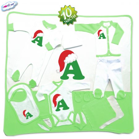Комплект за изписване А шапка зелено 10