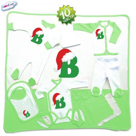 Комплект за изписване В шапка зелено 10