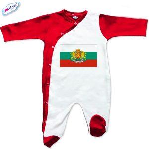 Бебешки гащеризон Българско знаме червено бяло