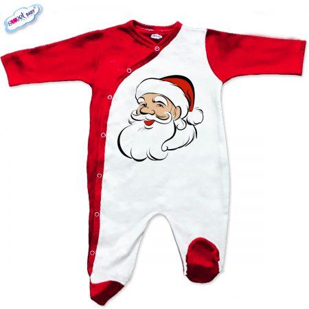 Бебешки гащеризон Дядо Коледа червено бяло
