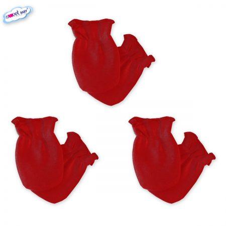 Бебешки ръкавички комплект от 3 червени
