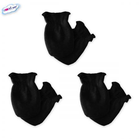 Бебешки ръкавички комплект от 3 черно