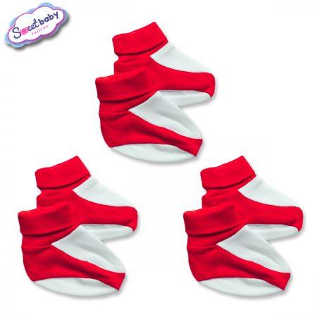 Бебешки терлички червено и бяло 3 броя