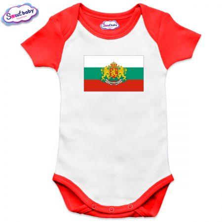 Бебешко боди US Българско знаме червено