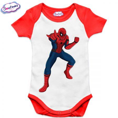 Бебешко боди US Спайдърмен червено