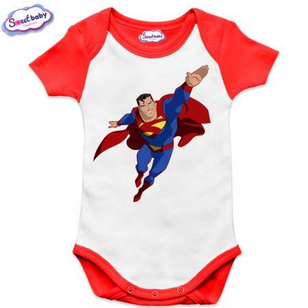 Бебешко боди US Супермен в полет червено
