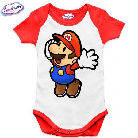 Бебешко боди US Супер Марио червено