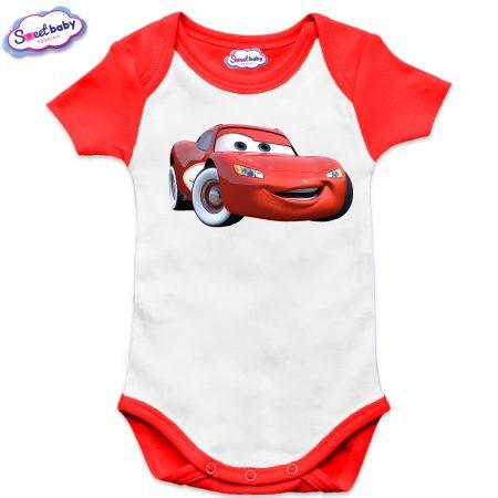 Бебешко боди US McQueen червено
