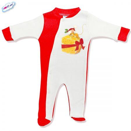 Бебешко гащеризонче Подарък за мишлето червено