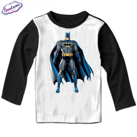 Детска блуза Батман с наметало черно бяло