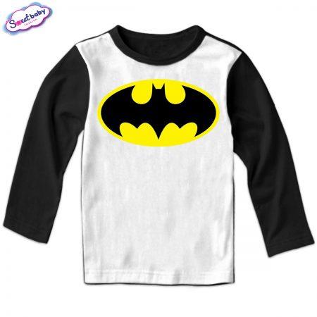 Детска блуза Батман черно и бяло