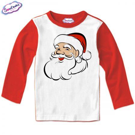 Детска блуза Дядо Коледа червено бяло