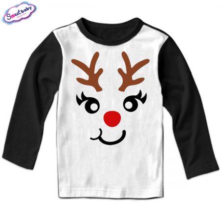 Детска блуза Еленмаска черно и бяло