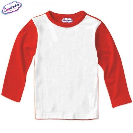 Детска блуза в червено и бяло
