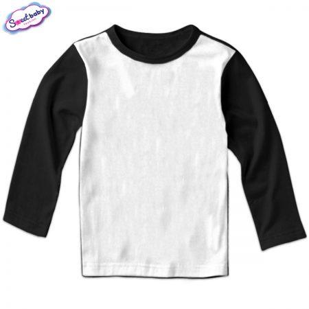 Детска блуза в черно и бяло