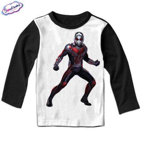 Детска блуза AntMan черно и бяло