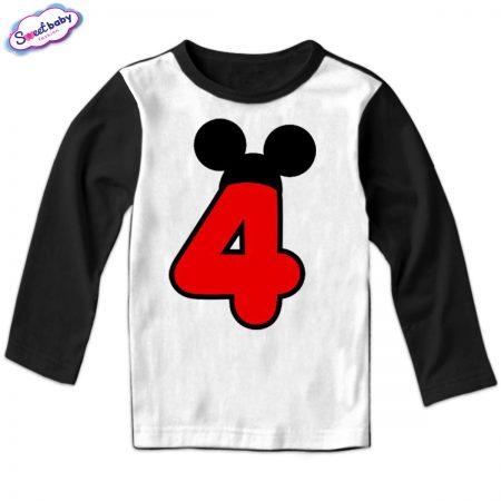 Детска блуза Four M черно бяло