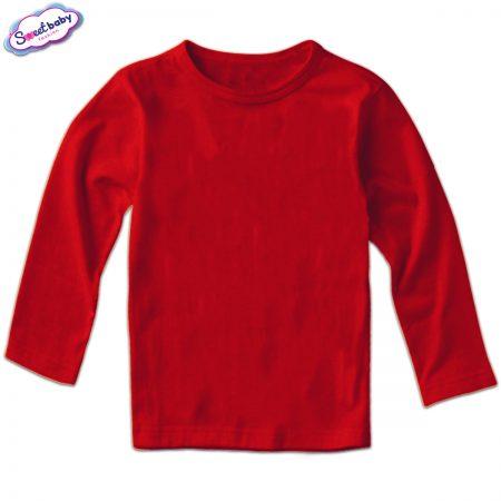 Детска блузка дълъг ръкав в червено
