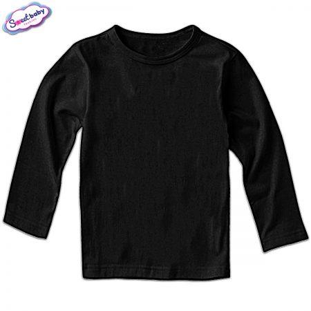 Детска блузка дълъг ръкав в черно