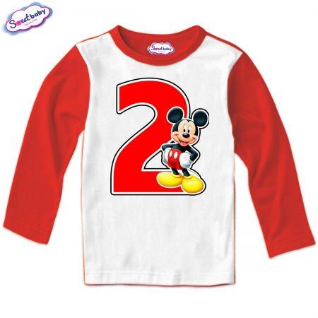 Детска блузка 2 Маус в червено