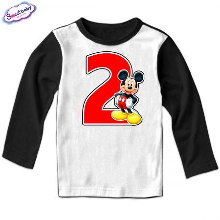 Детска блузка 2 Маус в черно