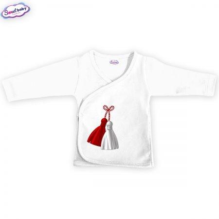 Бебешка камизолка Мартеница в бяло