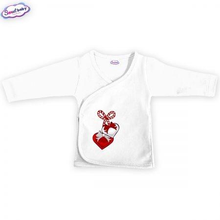Бебешка камизолка Мартеничка в бяло