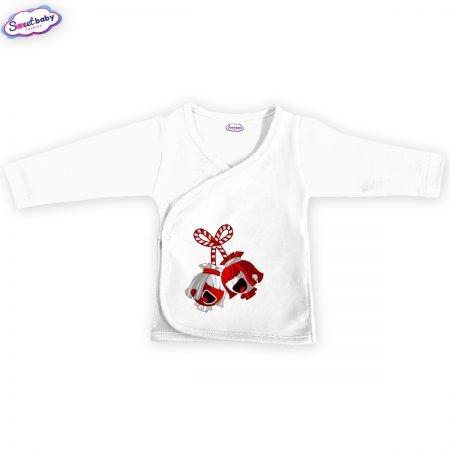 Бебешка камизолка Мартенички в бяло