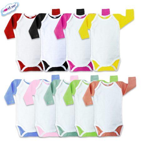 Бебешки бодита US различни цветове бял кант