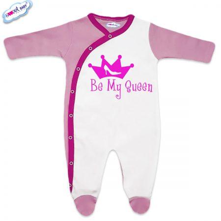 Бебешки гащеризончета Queen розово и бяло