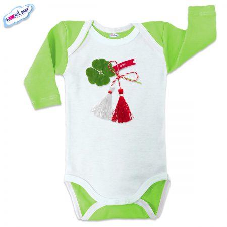 Бебешко боди US Детелина мартеница зелено