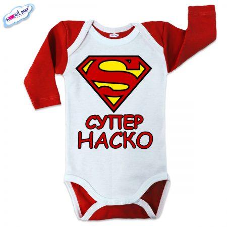 Бебешко боди US Супер Наско червено